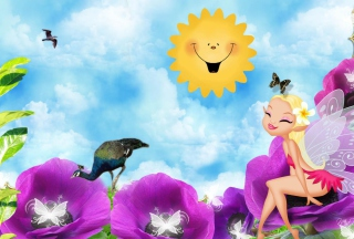 Summer Fairy Wallpaper for Android, iPhone and iPad