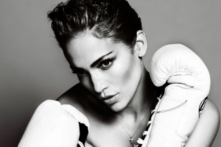 Free Jennifer Lopez Boxing Picture for LG Optimus M