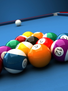Screenshot №1 pro téma Billiard Pool Table 240x320