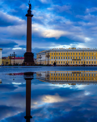 Saint Petersburg, Winter Palace, Alexander Column Wallpaper for Nokia Lumia 800