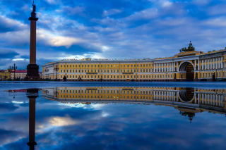 Saint Petersburg, Winter Palace, Alexander Column Background for Android, iPhone and iPad