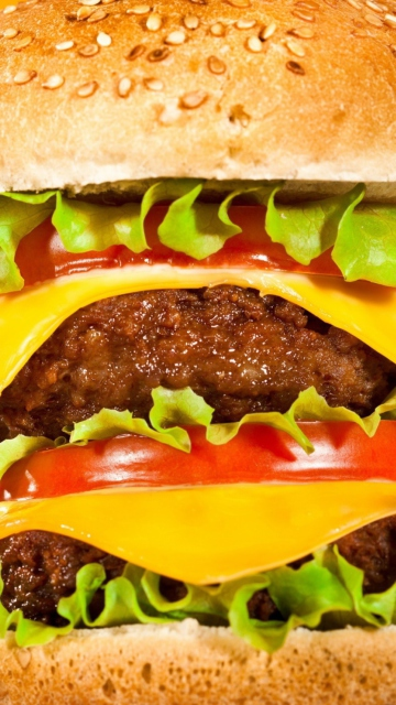 Fondo de pantalla Double Cheeseburger 360x640