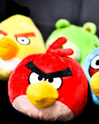 Plush Angry Birds Background for iPhone 6 Plus