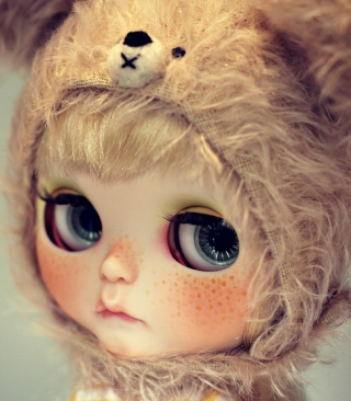 Cute Doll With Freckles Background for Nokia Asha 311