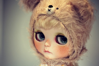 Cute Doll With Freckles Picture for Android, iPhone and iPad