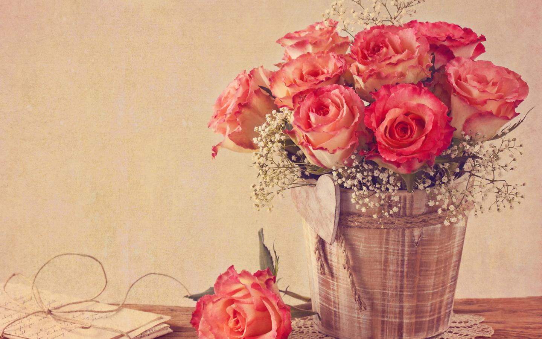 фон для открытки на день рождения с розами были