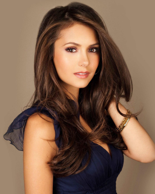 Most Beautiful Hollywood Actress Nina Dobrev Background for iPhone 5