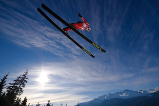 Skiing Jump Picture for Android, iPhone and iPad