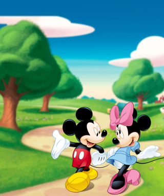 Mickey And Minnie Wallpaper for Nokia Asha 310