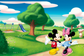 Mickey And Minnie Background for Desktop 1280x720 HDTV
