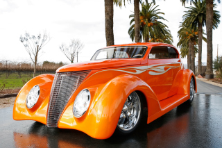 1937 Ford Sedan Dreamsicle Oze 37 Background for Nokia XL