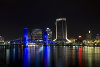 Jacksonville Skyline Wallpaper for Android 480x800