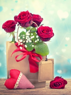 Send Valentines Day Roses wallpaper 240x320
