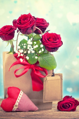 Screenshot №1 pro téma Send Valentines Day Roses 320x480