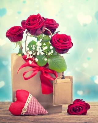 Send Valentines Day Roses Background for Nokia C2-03