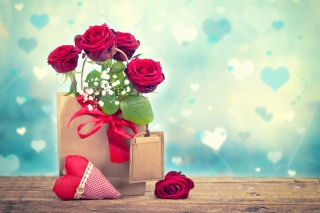 Send Valentines Day Roses Background for Android, iPhone and iPad