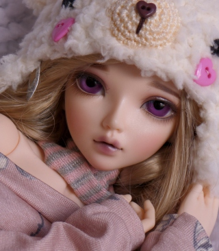 Beautiful Doll With Deep Purple Eyes sfondi gratuiti per Nokia Lumia 925