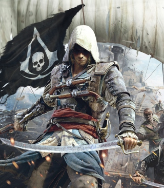 Assassins Creed 4 Black Flag Game Wallpaper for Nokia C1-01