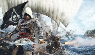 Assassins Creed 4 Black Flag Game - Obrázkek zdarma pro Widescreen Desktop PC 1680x1050
