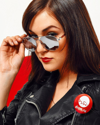Sasha Grey in Sunglasses Wallpaper for Nokia Asha 306