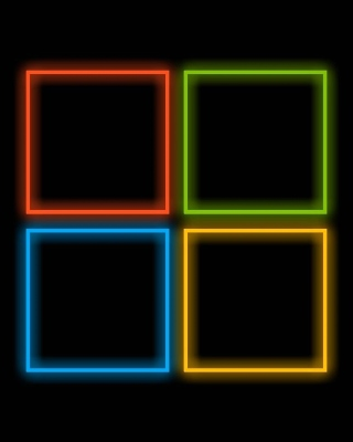 OS Windows 10 Neon Wallpaper for Nokia Asha 300