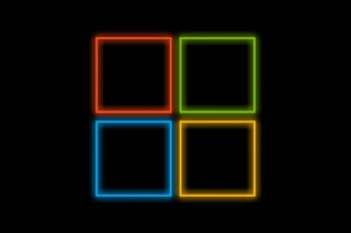 OS Windows 10 Neon Wallpaper for 640x480