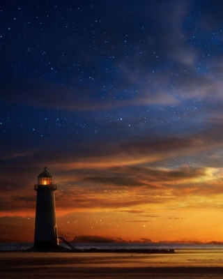 Lighthouse at sunset - Fondos de pantalla gratis para 640x960
