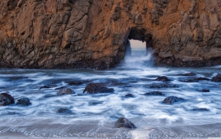 Pfeiffer Beach Background for Android, iPhone and iPad
