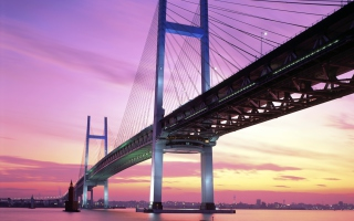 Free Yokohama Bay Bridge Japan Picture for Android, iPhone and iPad