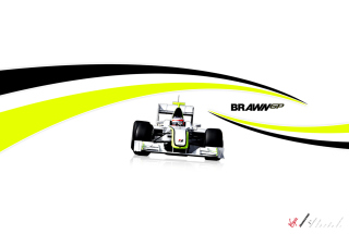 Обои Brawn GP by FordGT для Nokia Asha 302