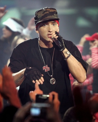 Free Eminem Live Concert Picture for 128x160