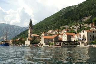 Perast in Montenegro Background for Android, iPhone and iPad