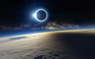 Eclipse From Space Picture for Android, iPhone and iPad
