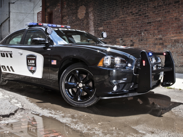 Screenshot №1 pro téma Dodge Charger - Police Car 640x480