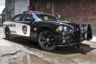 Kostenloses Dodge Charger - Police Car Wallpaper für Samsung Galaxy Ace 3