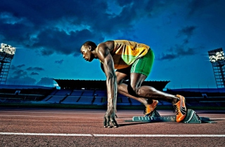 Usain Bolt Athletics Wallpaper for Android, iPhone and iPad