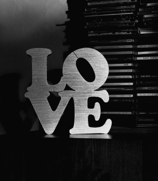 Love Black And White Sign Wallpaper for Nokia C1-01