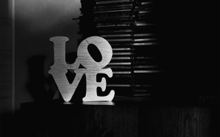 Kostenloses Love Black And White Sign Wallpaper für 1280x720