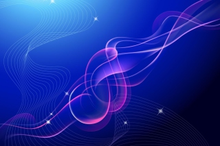 Blue Vector Waves Background for Android, iPhone and iPad