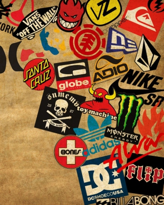 Skateboard Logos Background for Nokia Asha 305