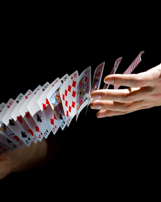 Playing cards trick sfondi gratuiti per Nokia Lumia 800