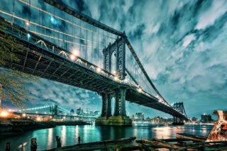 Free Manhattan Bridge HD Picture for 220x176
