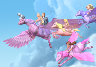 Barbie And The Magic Of Pegasus - Obrázkek zdarma pro LG Optimus M