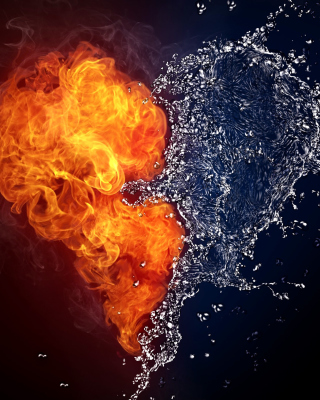 Water and Fire Heart sfondi gratuiti per Nokia Lumia 800