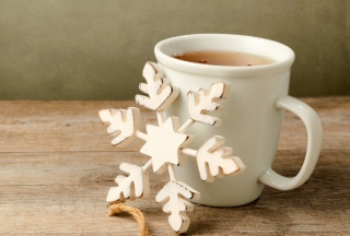 White Wooden Snowflake sfondi gratuiti per cellulari Android, iPhone, iPad e desktop