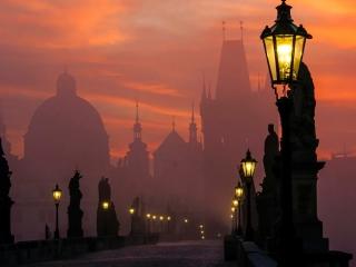 Charles Bridge - Prague in fog para LG 900g