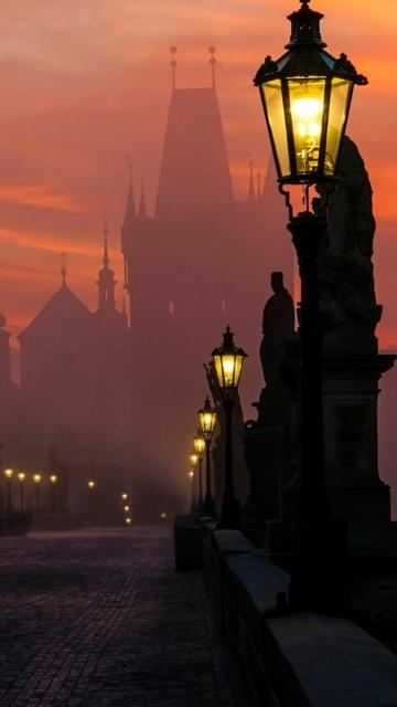 Charles Bridge - Prague in fog for Nokia C5-05