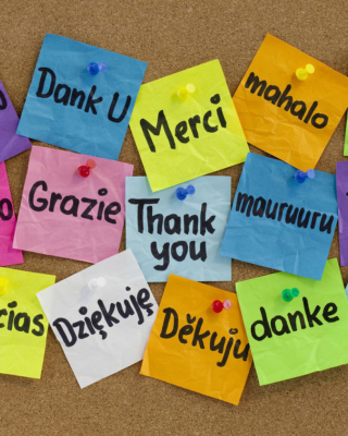 How To Say Thank You in Different Languages Wallpaper for 320x480