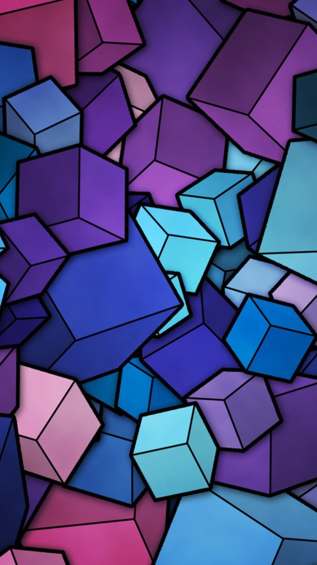 Sfondi Colorful Cubes 1080x1920