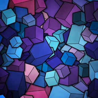Colorful Cubes Wallpaper for iPad 3